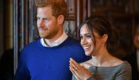 El príncipe Enrique y la actriz Meghan Markle. Foto: AFP