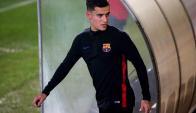 Philippe Coutinho ya entrena en el Barcelona. Foto: EFE