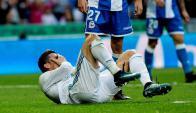 Cristiano Ronaldo queda sentido tras marca el sexto gol. Foto: EFE