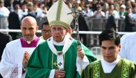 El Papa cerró su visita a Perú con una multitudinaria misa. Foto: AFP