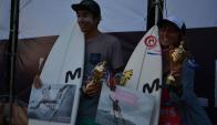 Francisco y Delfina Morosini. Foto: USU Surf.