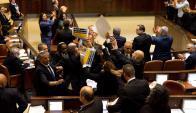 Knesset. aplausos y abucheos al discurso de Pence en Israel. Foto: Reuters