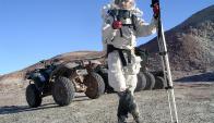 Kobrick se prepara para su misión. Foto: EFE