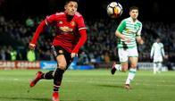 Alexis Sánchez en su debut con Manchester United ante Yeovil. Foto: Reuters