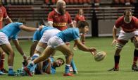 Los Teros le ganaron a Canadá como visitantes en Vancouver. Foto: @RugbyUruguay.