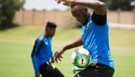Usain Bolt entrenó en el Mamelodi Sundowns. Fotos: Reuters