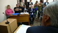 Fiege, Balcedo, Balbi y Víctor Della Valle en el juzgado de Crimen Organizado. Foto: Fernando Ponzetto.
