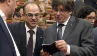 Puigdemont envió mensajes a un diputado admitiendo que el proceso independentista se terminó. Foto: AFP