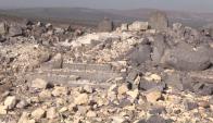 Un templo antiguo de 3.000 años víctima colateral de los combates en Siria