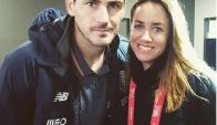 Cata cholula junto a Iker Casillas