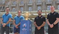 Los capitanes y entrenadores de Uruguay y Canadá en Sofitel.