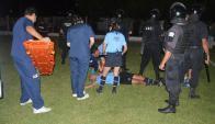 Agresión a árbitro en Young. Foto: Fútbol Florida.