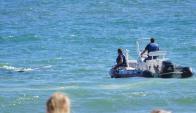 avión cayó en la playa  mansa de Punta del Este Foto: Ricardo Figueredo