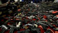 Sólo a México se estima que pasan 213.000 armas ilegales desde EE.UU. por año. Foto: AFP
