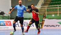 Uruguay le ganó a Bélgica. Fotos: CBFS Confederación Brasileña de Futsal