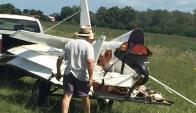 Un avión se precipitó en las inmediaciones del Aero Club de Canelones.