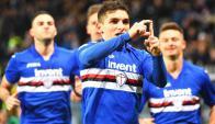 Lucas Torreira marca un gol para Sampdoria. Foto: EFE