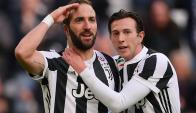 Gonzalo Higuaín anotó un hat-trick en la goleada de la Juventus