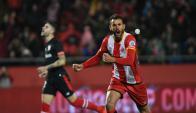 Christian Stuani y un doblete frente al Bilbao. Foto: @GironaFC