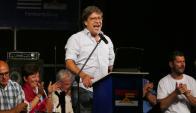Javier Miranda fue el orador principal del acto. Foto: Ricardo Figueredo