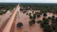 Inundaciones en Salta, Argentina. Foto: EFE