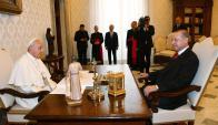 Vaticano: la reunión privada duró 50 minutos. Foto AFP