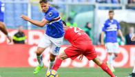 Gastón Ramírez liderando la ofensiva de la Sampdoria