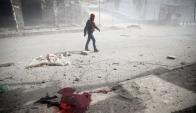 Guta: una de las zonas bombardeadas por el régimen sirio. Foto: Reuters