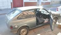 Vehículo: llevaba en su interior 26 ladrillos de marihuana y 246 gramos de cocaína. Foto: D. Rojas