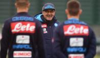 El entrenamiento del Napoli. Foto: @sscnapoli