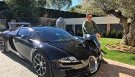 Cristiano Rolando con su espectacular Bugatti