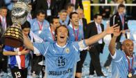 Diego Lugano, capitán de Uruguay en la Copa América 2011