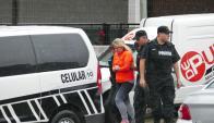 Paola Fiege fue a visitar a su hija al Hospital de Maldonado. Foto: Ricardo Figueredo