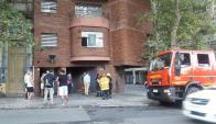 Bomberos trabajó en edificio de Pocitos. Foto: Lucía Baldomir