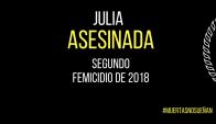 Julia segunda víctima de femicidio de 2018