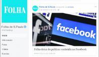 Así anunció el diario Folha de S. Paulo la decisión de dejar de publicar contenidos. Foto: Captura
