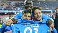 Napoli recuperó el liderato. Foto: EFE
