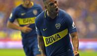 Frank Fabra festejando el gol de Boca. Foto: AFP