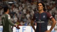 Edinson Cavani en FIFA 18. Foto: Captura