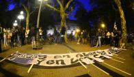 Nueva movilización por otro caso de femicidio en Uruguay. Foto: Gerardo Pérez