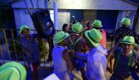 Decenas de niños, adolescentes y jóvenes realizaron la tradicional guerra de agua. Foto: F. Ponzetto