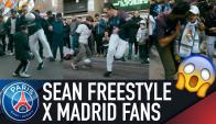Freestylers del PSG vs. fan del Real Madrid