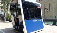 Omnibus autónomos en Dubái. Foto: EFE