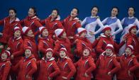 Porristas de Corea del Norte. Foto: Reuters