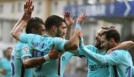 Luis Suárez en el partido de Barcelona. Foto: EFE.