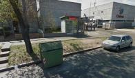 Cajero automático dañado tras explosión. Foto: Google Street View.