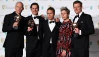 """Equipo de """"3 anuncios por un crimen"""" en los BAFTA"""