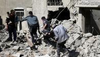 Guta: los bombardeos han causado cientos de muertos. Foto: Reuters