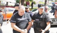 Marcelo Balcedo y Paola Fiege trasladados a Maldonado para ser indagados. Foto: Ricardo Figueredo