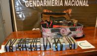 En total eran 16 las valijas que estaban llenas de cocaína. Foto: Ministerio de Seguridad de la Nación